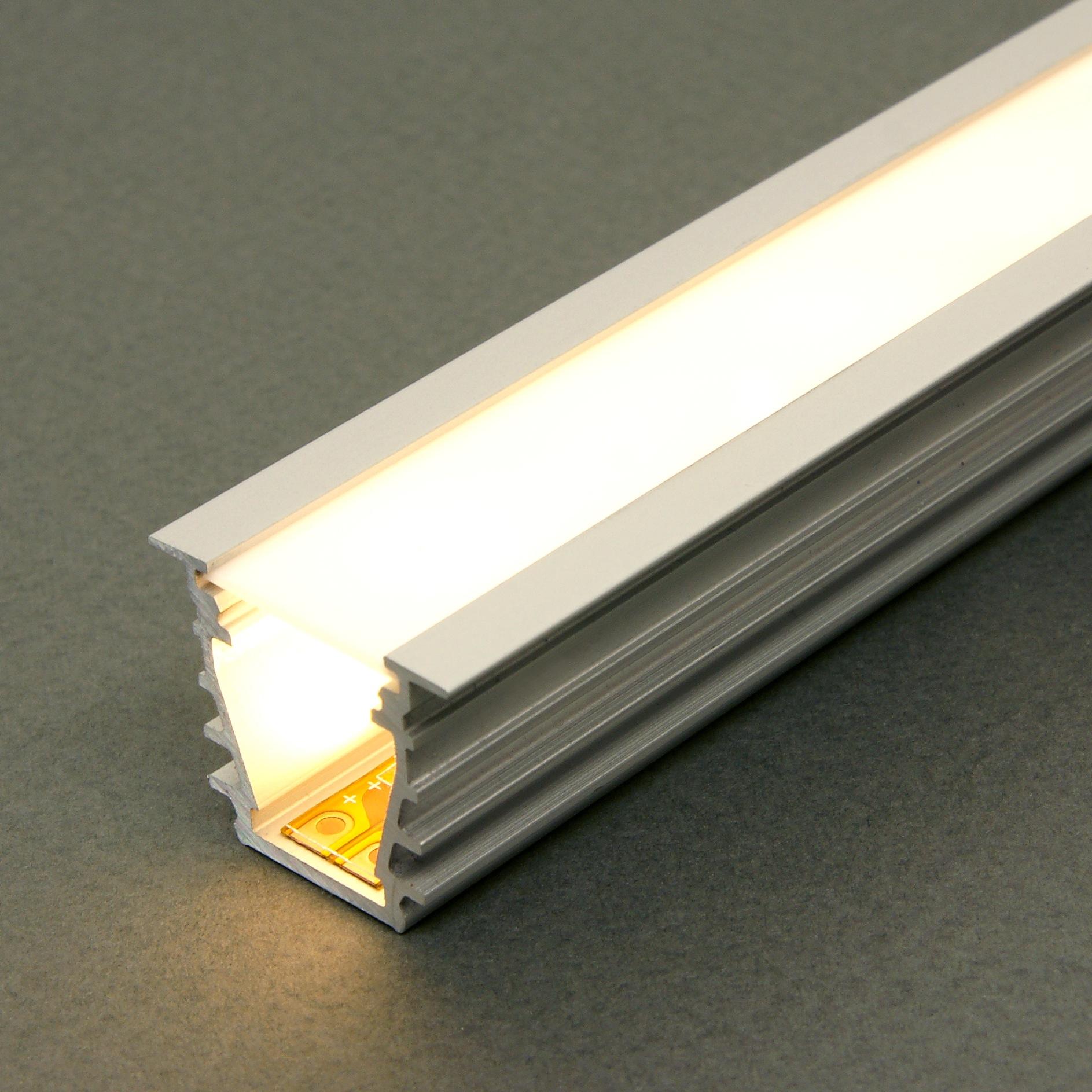 Kit profil s led aluminium profond deep 2m pour ruban led - Profile pour ruban led ...