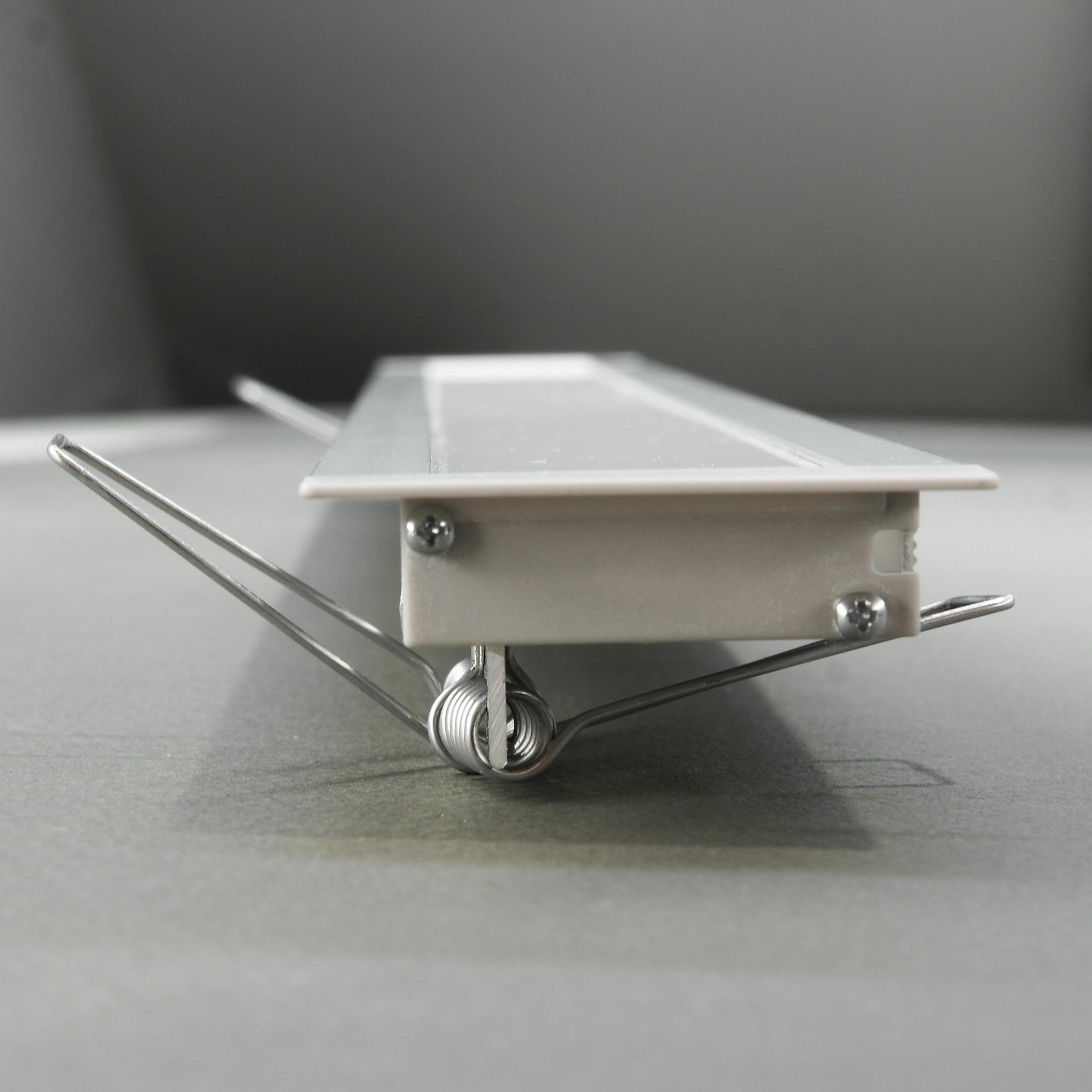 kit profil s led aluminium blanc noir encastrable flat 2m pour ruban led. Black Bedroom Furniture Sets. Home Design Ideas
