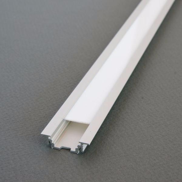 ... complet 2m Led Aluminium Noir Blanc Encastrable pour Ruban Led