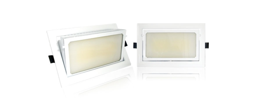 Spot led cob rectangulaire orientable 45w for Spot exterieur orientable encastrable