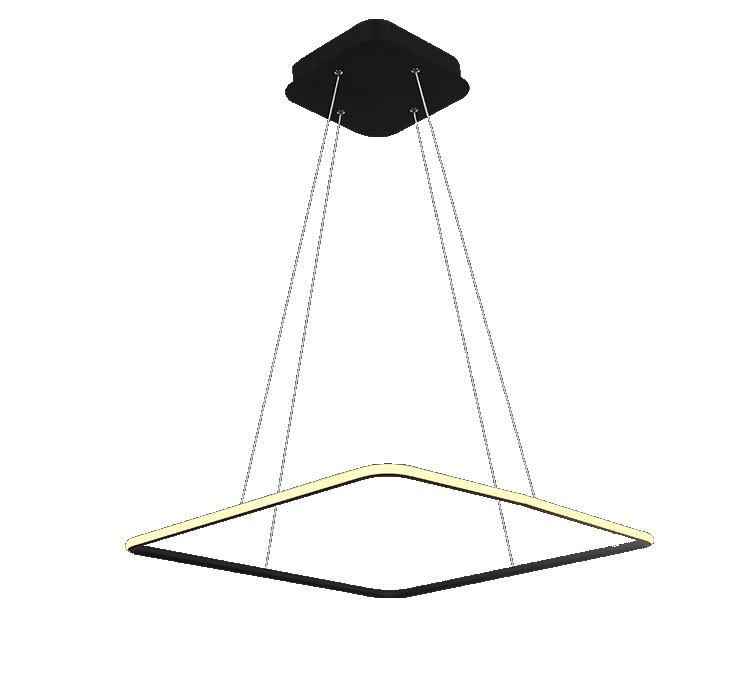 suspension led design carrée 1 anneau
