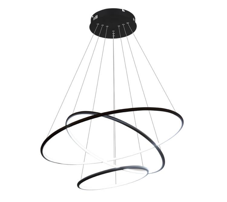 suspension led design cercle 3 anneaux
