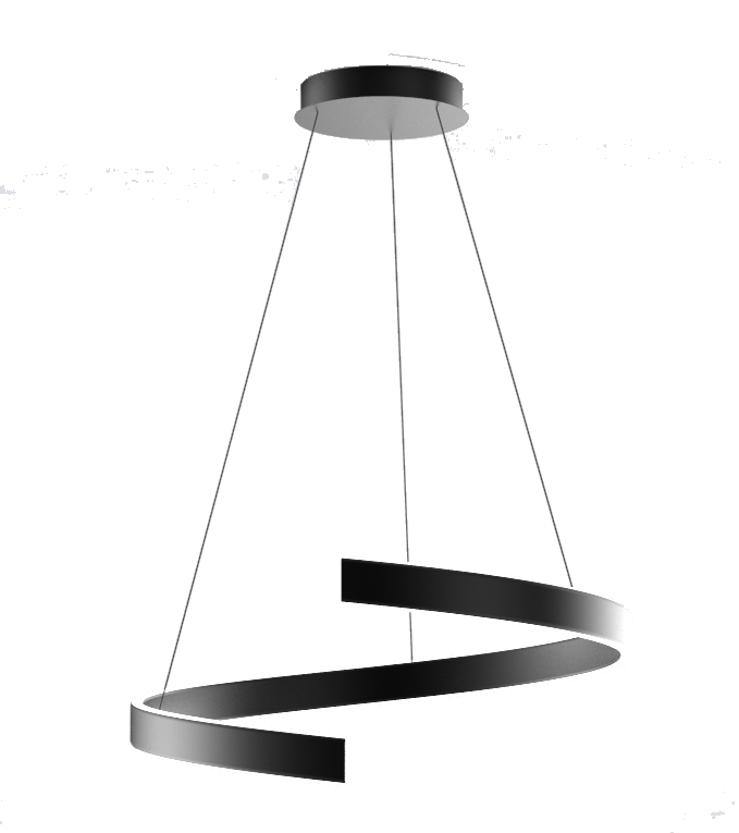 Suspension à cable :  luminaire led design spirale 68w