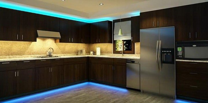 comment installer un ruban led dans la cuisine. Black Bedroom Furniture Sets. Home Design Ideas