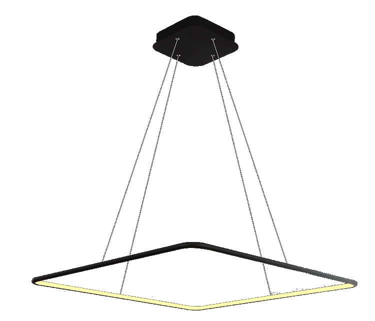Suspension led design carré 40 w dimmable éclairage intérieur