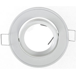 Spot rond blanc orientable encastrable 92mm for Spot encastrable orientable salle de bain