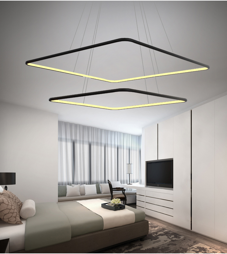 suspension led design carré