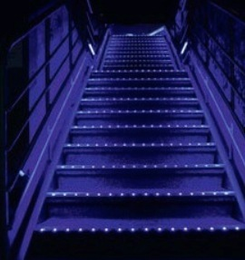 kit profil s led aluminium escalier 2m nez de marche pour ruban led. Black Bedroom Furniture Sets. Home Design Ideas