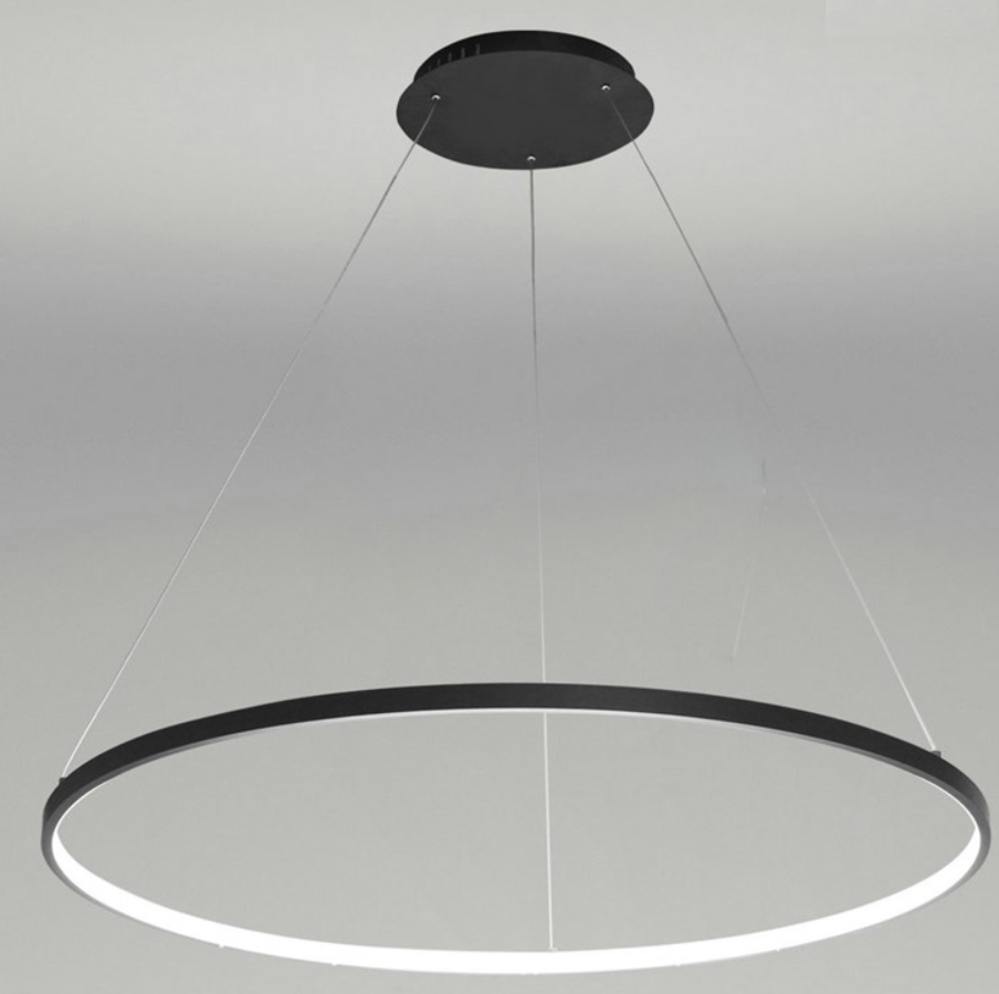Plafonnier suspension led design ronde  43 w dimmable