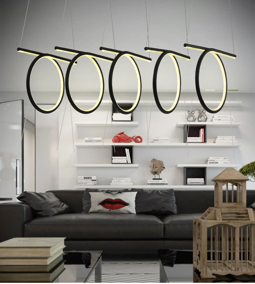 Suspension led design ovale